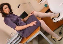 bryoni kate secretary pantyhose