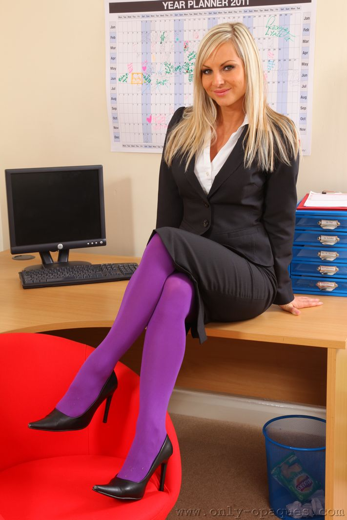 Office Uniform Pantyhose Pantyhose Encasement 77