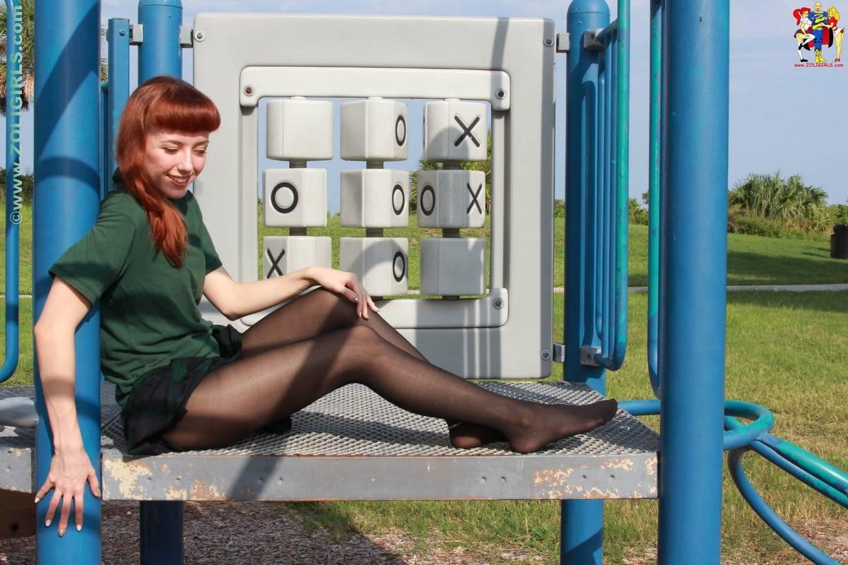 Zoligirls schoolgirl uniform pantyhose lizzy