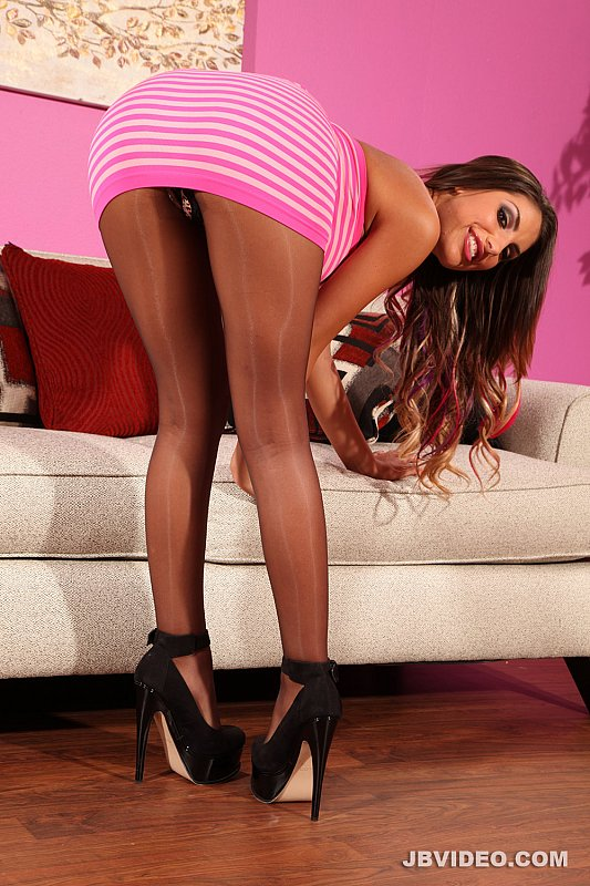 August ames tease