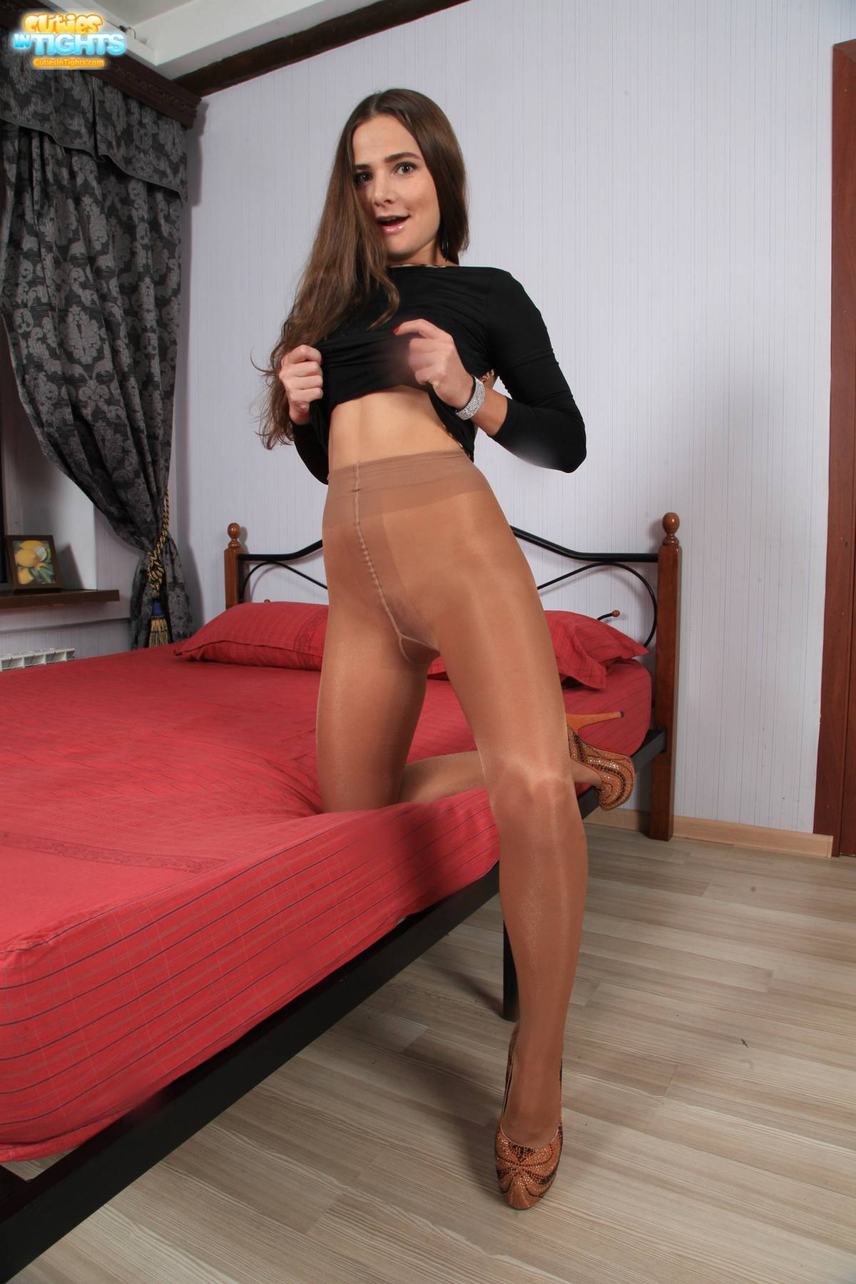 Good Free shiny pantyhose and the 2nd