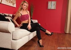 Alina West's Legging Tease