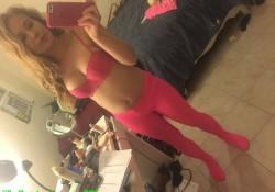 Real Pantyhose Teens cute model selfie