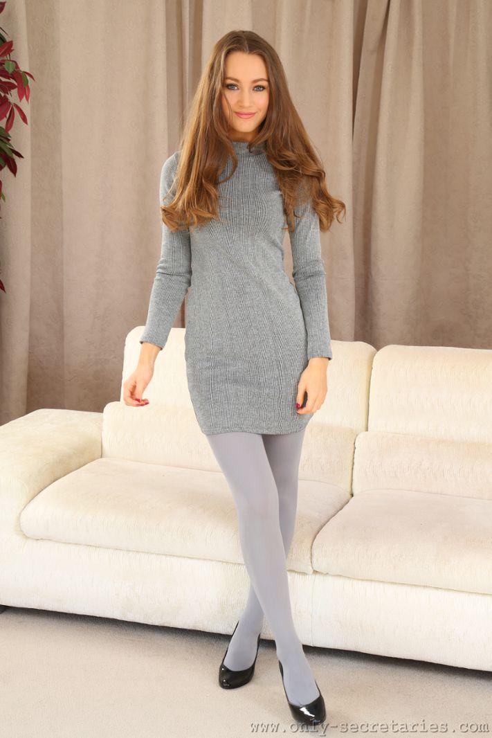 Grey Pantyhose 6