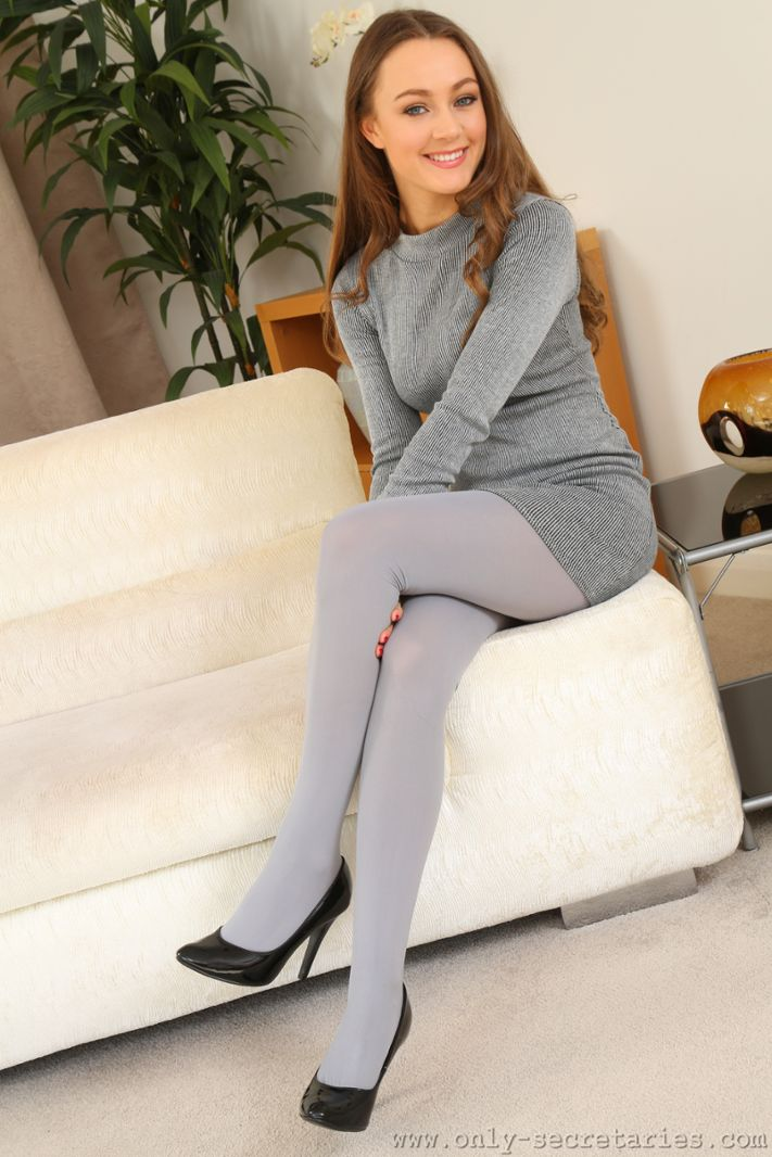 Grey Pantyhose 109