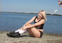 hooters uniform and pantyhose