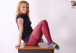 Alyssa Hart Schoolgirl pantyhose zoligirls