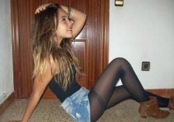 amateur girl in pantyhose