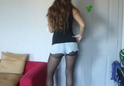 sexy teen pantyhose jean shorts