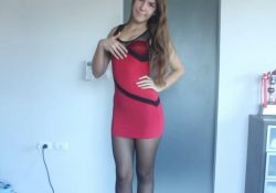 booty-girl-minidress-and-pantyhose