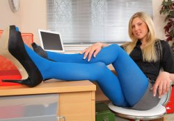 Natalie Grant Secretary In Pantyhose