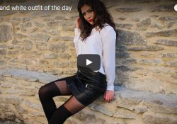 pantyhose video miniskirt