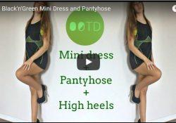 sanya bootygirl minidress heels pantyhose
