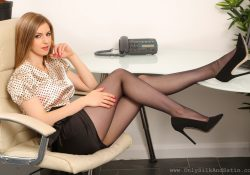 Stella Cox secretary pantyhose