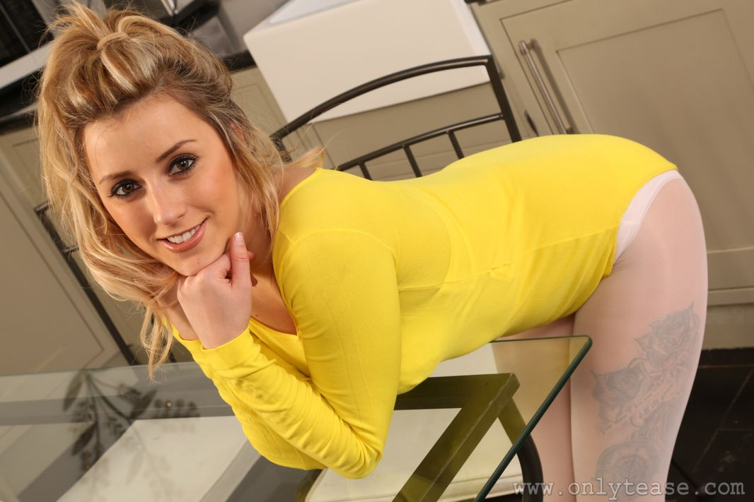Only Tease Frankie B leotard and pantyhose