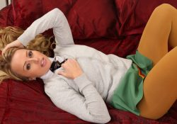 Only Opaques Holly Gibbons schoolgirl pantyhose