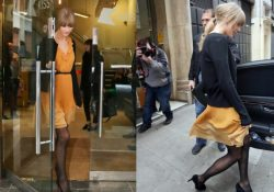 Taylor Swift Patterned Pantyhose