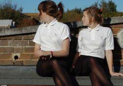 amateur girls in black pantyhose
