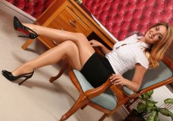 Only Secretaries Gemma Jack shiny pantyhose